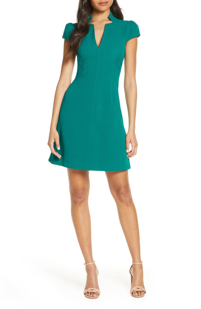 VINCE CAMUTO Notch Neck Fit & Flare Dress, Main, color, 311