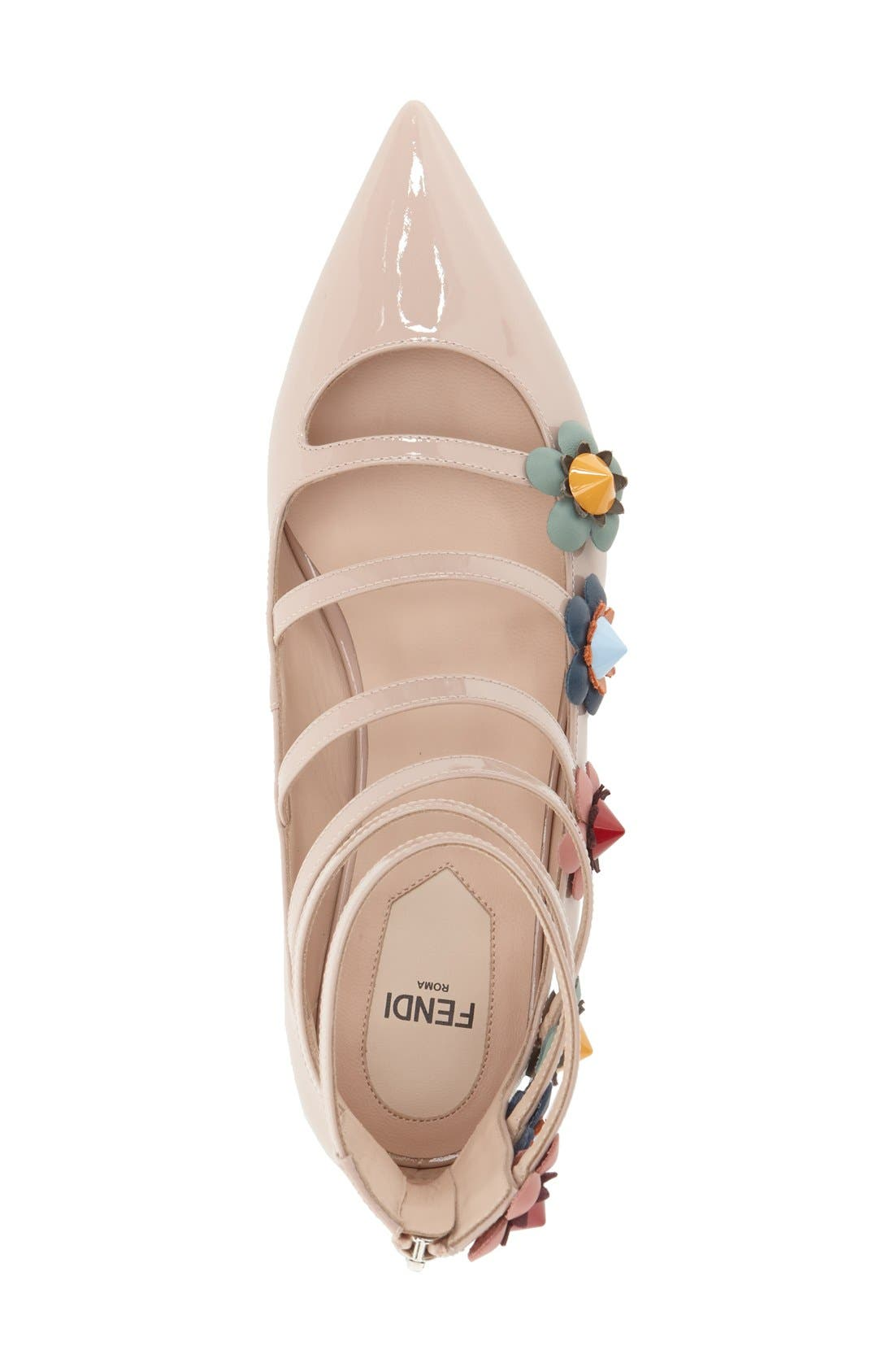 ,                             'Flowerland' Strappy Flat,                             Alternate thumbnail 7, color,                             251
