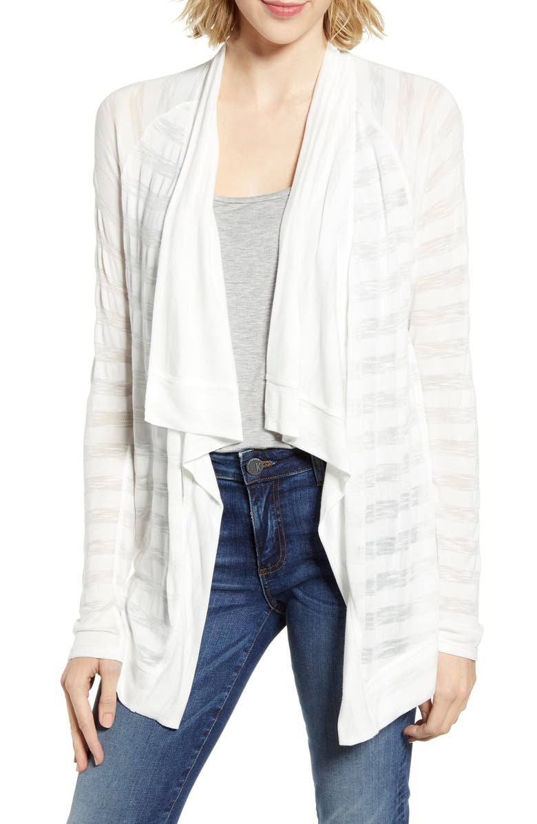 GIBSON x The Motherchic Travelers Drape Open Cardigan, Main, color, 900