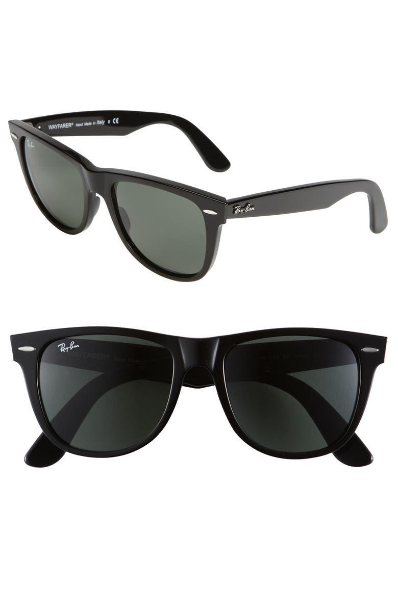 RAY-BAN 'Classic Wayfarer' 50mm Sunglasses, Main, color, 001