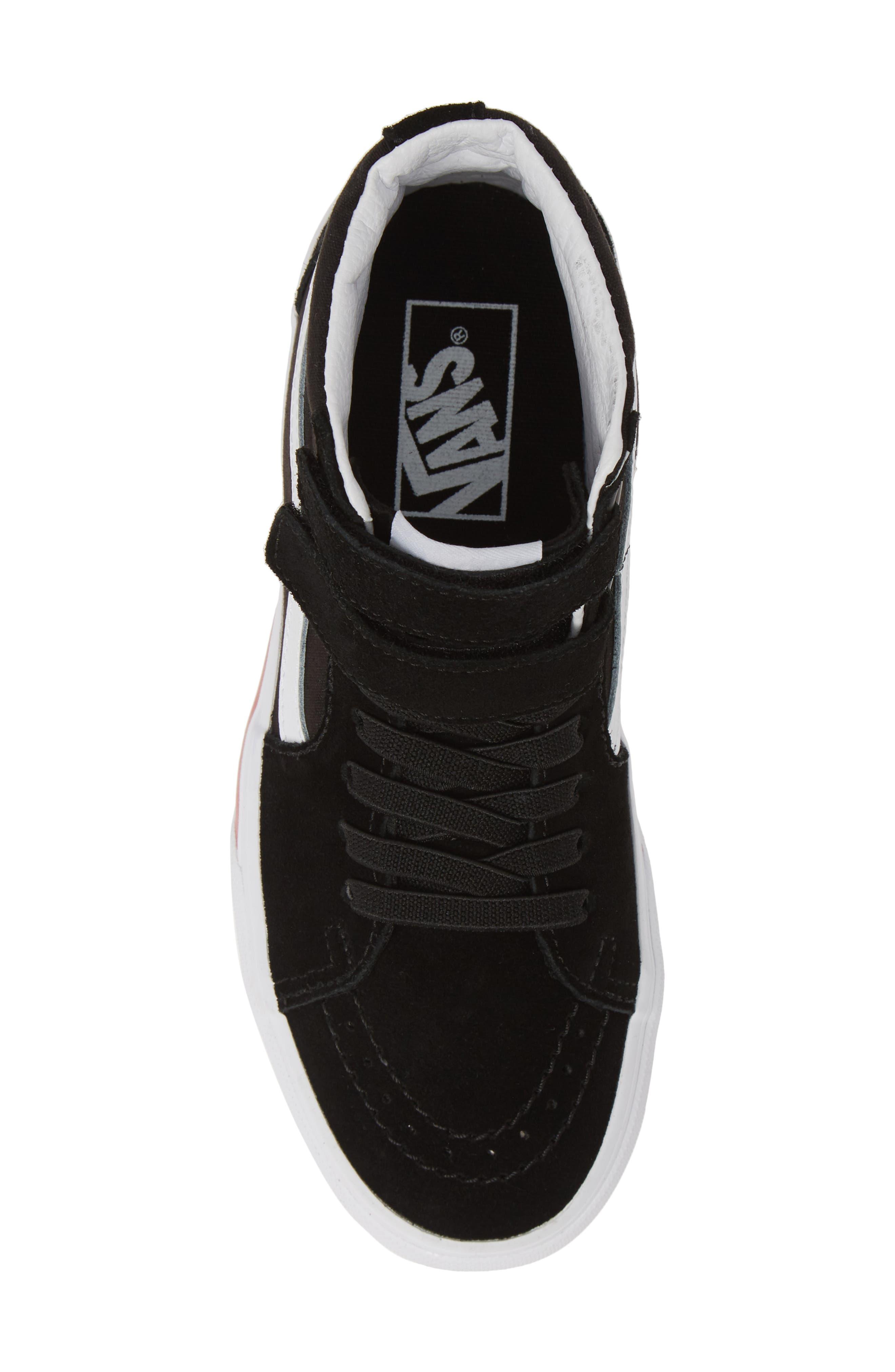 ,                             Sk8-Hi V Rainbow Platform Sneaker,                             Alternate thumbnail 5, color,                             RAINBOW BLACK/ TRUE WHITE
