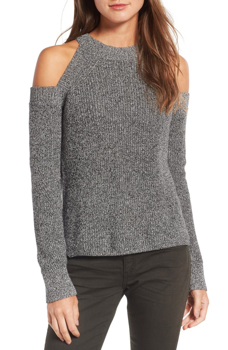 RAG & BONE/JEAN Dana Cold Shoulder Sweater, Main, color, 005