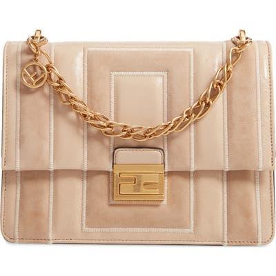 Fendi Kan U Goatskin Suede & Lambskin Leather Shoulder Bag - Pink