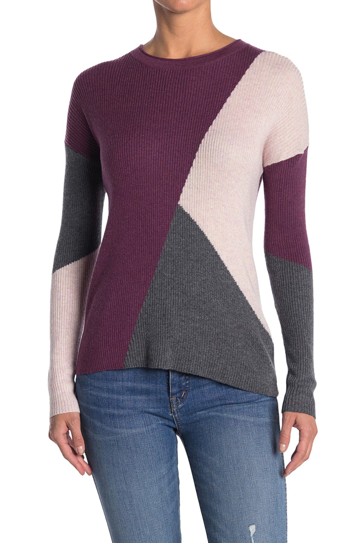 Image of SmartWool Colorblock Ribbed Crew Neck Sweater