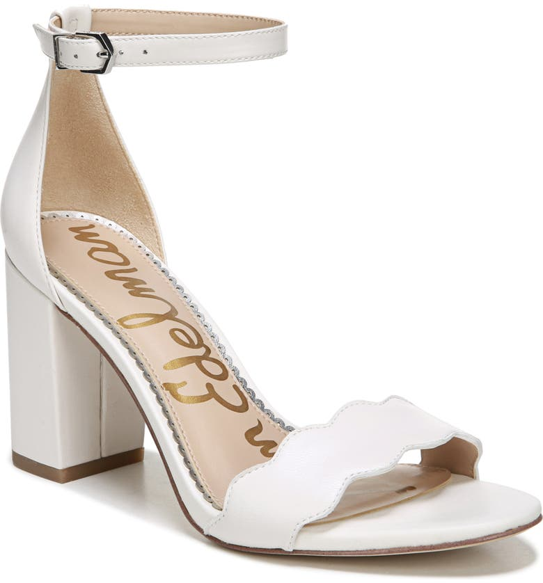 SAM EDELMAN Odila Sandal, Main, color, BRIGHT WHITE LEATHER