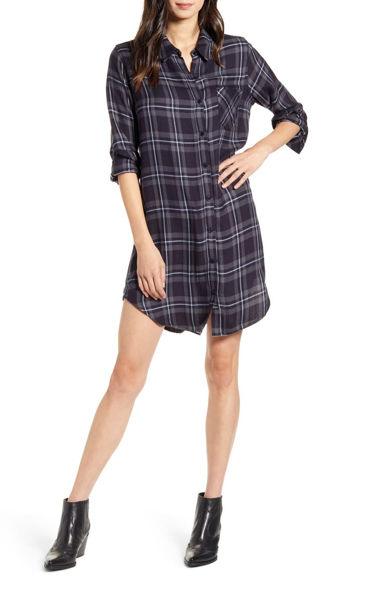 RAILS Bianca Flannel Shirtdress, Main, color, 005