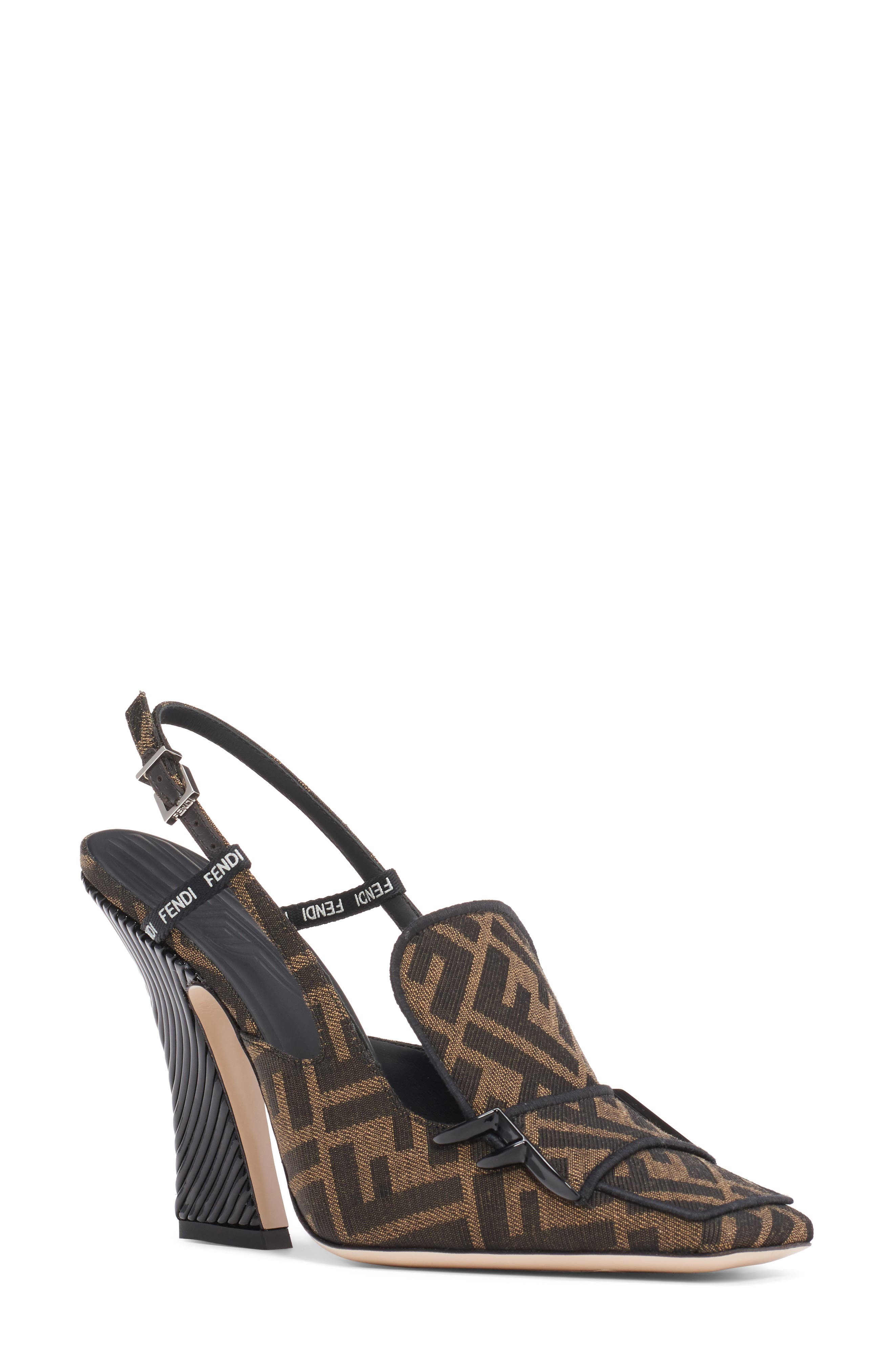Fendi Ffreedom Ff Slingback Loafer Pump, Black