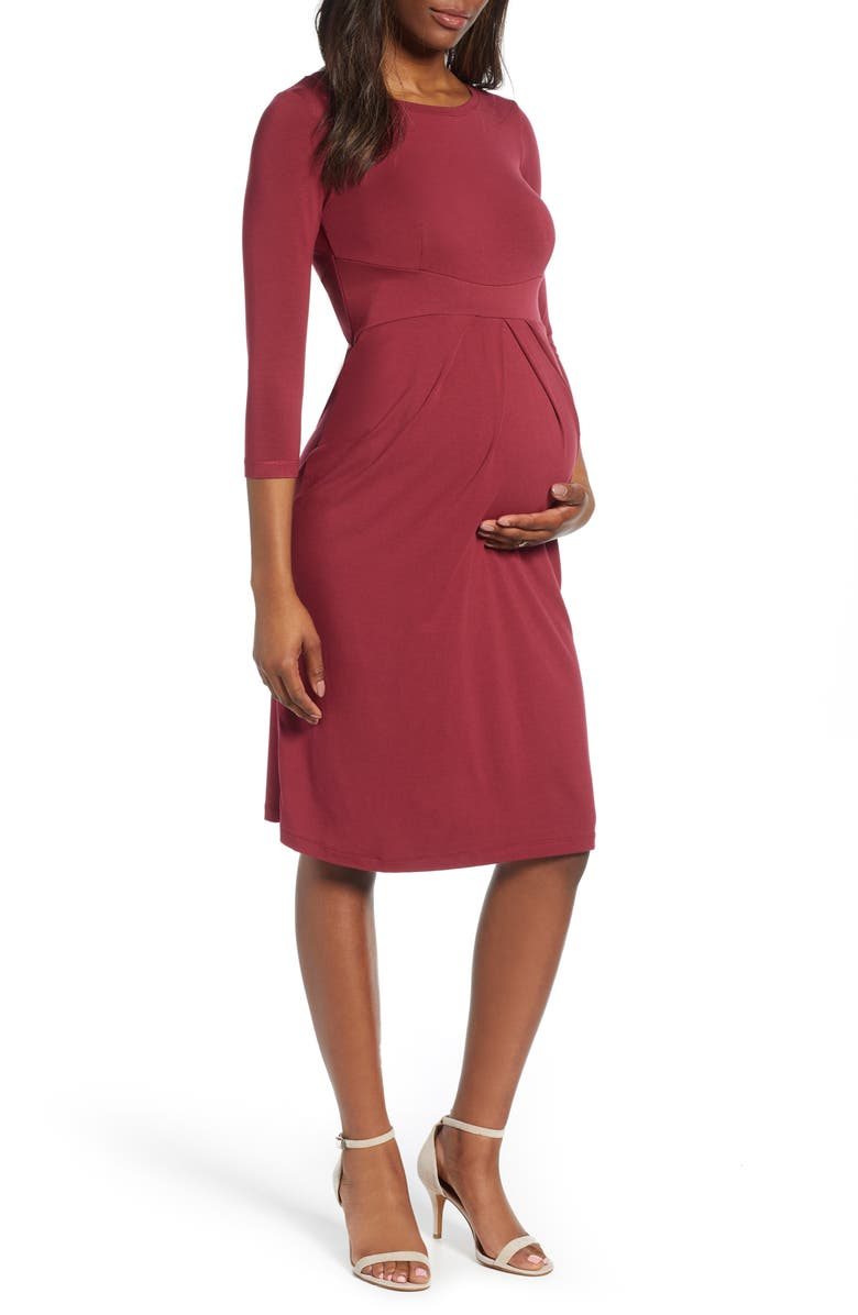 ISABELLA OLIVER Ivybridge Maternity Dress, Main, color, RASPBERRY