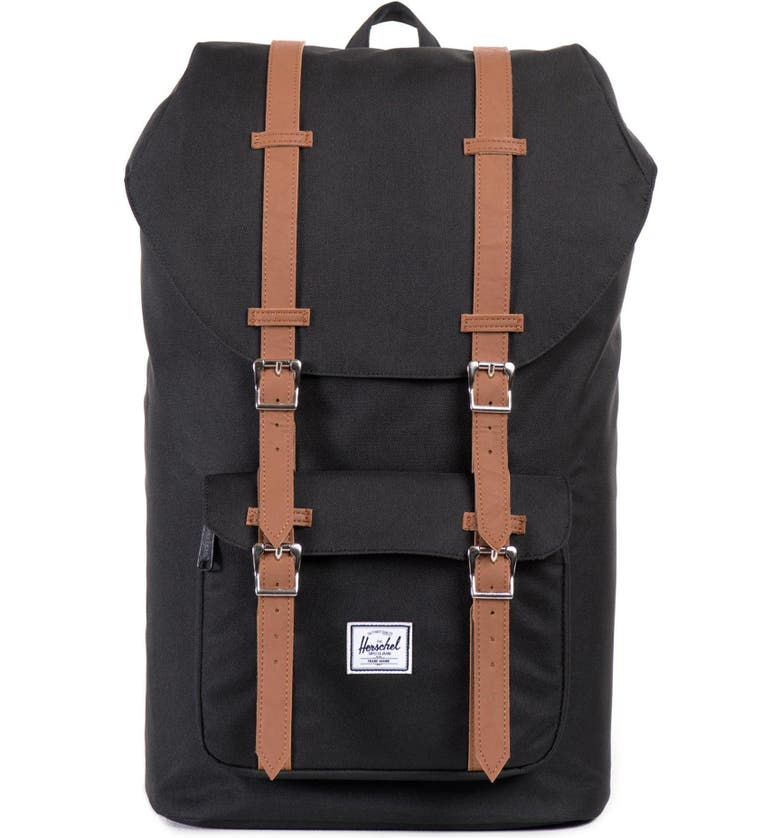 HERSCHEL SUPPLY CO. 'Little America' Backpack, Main, color, BLACK