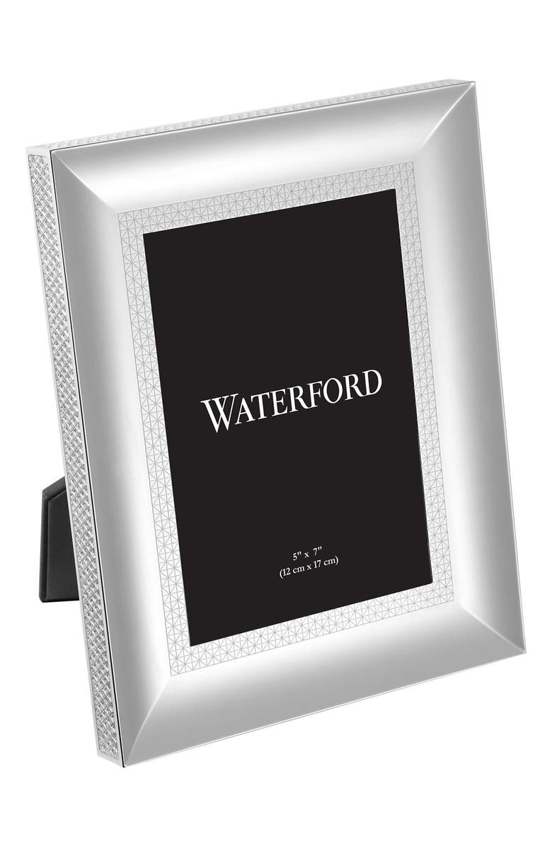 WATERFORD Lismore Diamond Lead Crystal Picture Frame, Main, color, SILVER