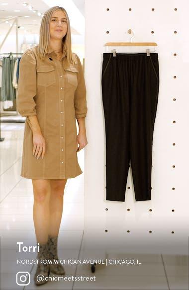 Side Stripe Stretch Wool Blend Pants, sales video thumbnail