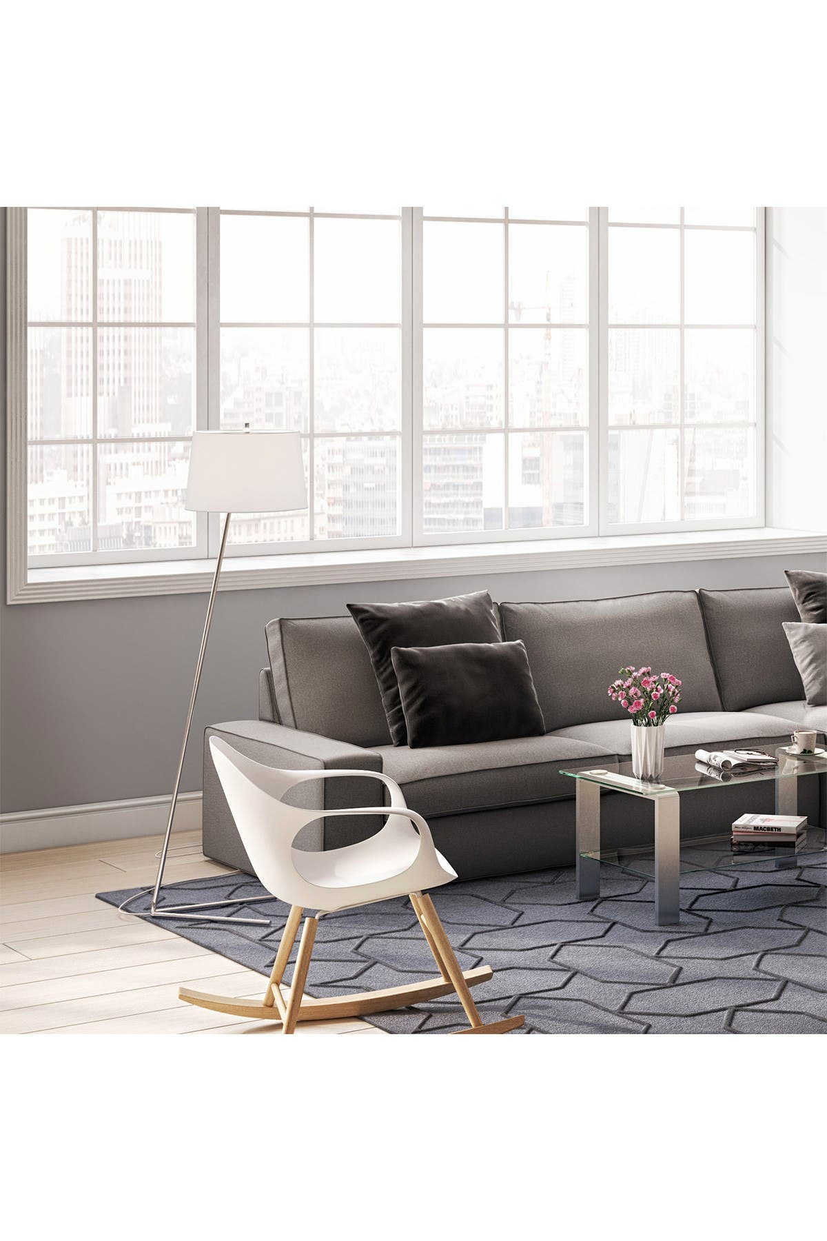 Image of Addison and Lane Markos Floor Lamp - Nickel