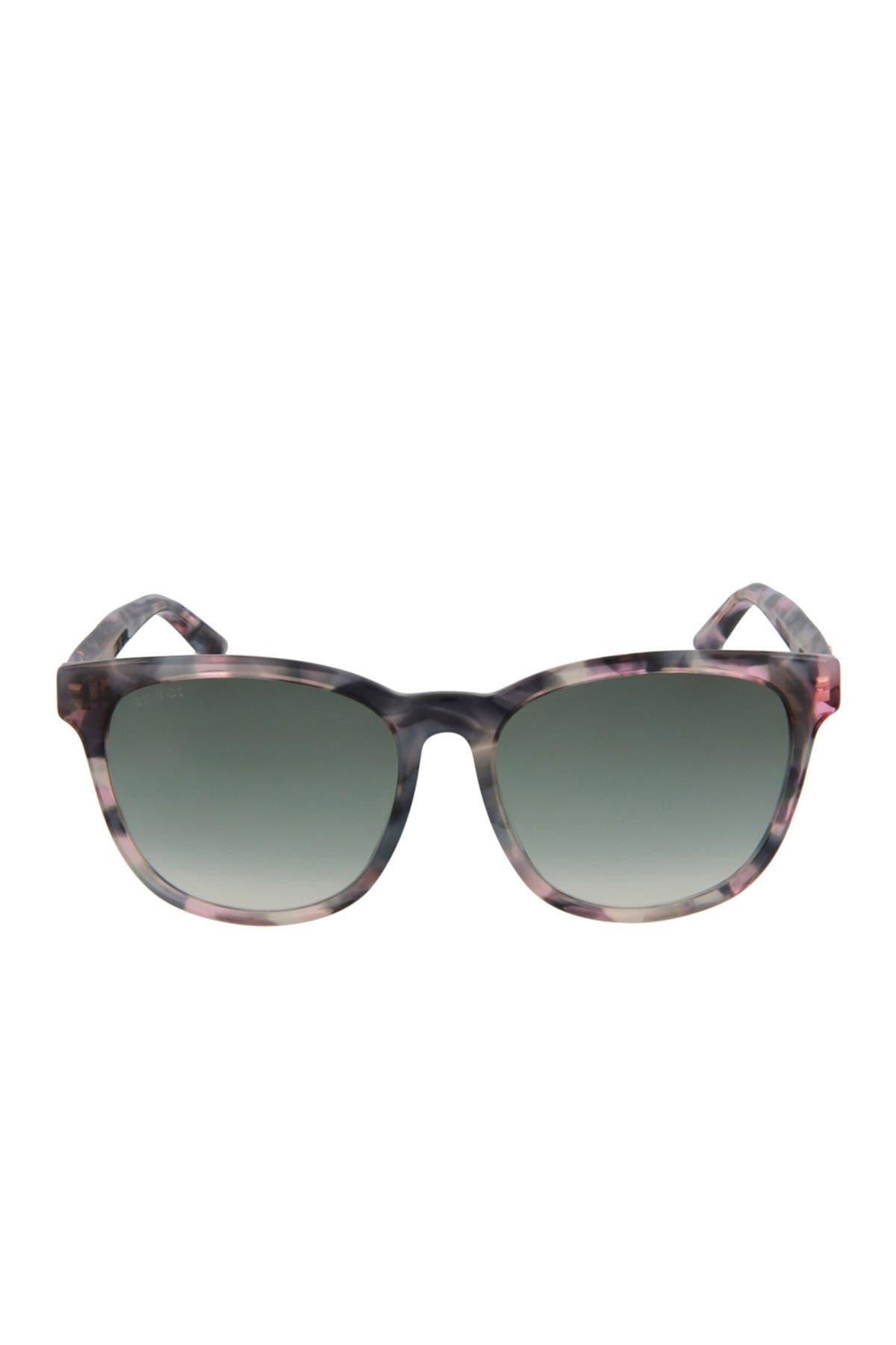 Gucci 56mm Fashion Rectangle Sunglasses In Gray