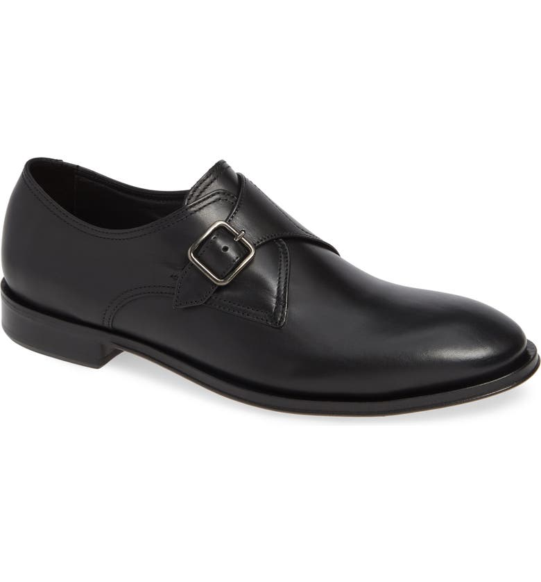 ALLEN EDMONDS Umbria Monk Strap Shoe, Main, color, BLACK LEATHER