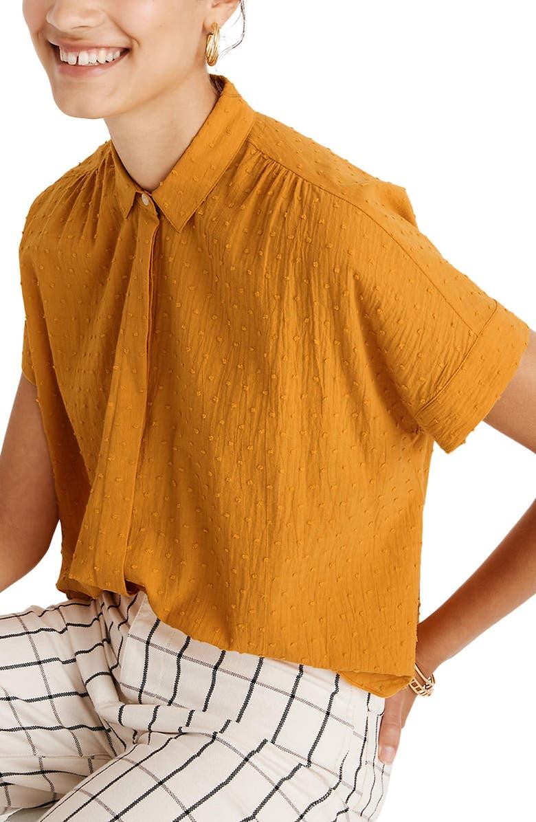 MADEWELL Hilltop Clip Dot Cotton Shirt, Main, color, TUNGSTEN GLOW
