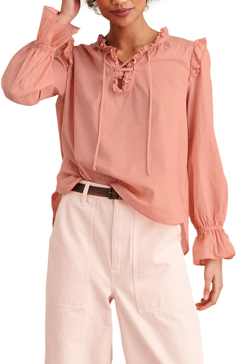 ALEX MILL Ruffle Trim Tunic Blouse, Main, color, 694