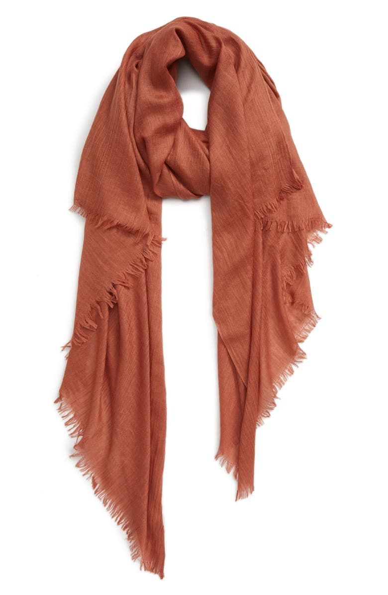 SOLE SOCIETY Scarf, Main, color, RUST