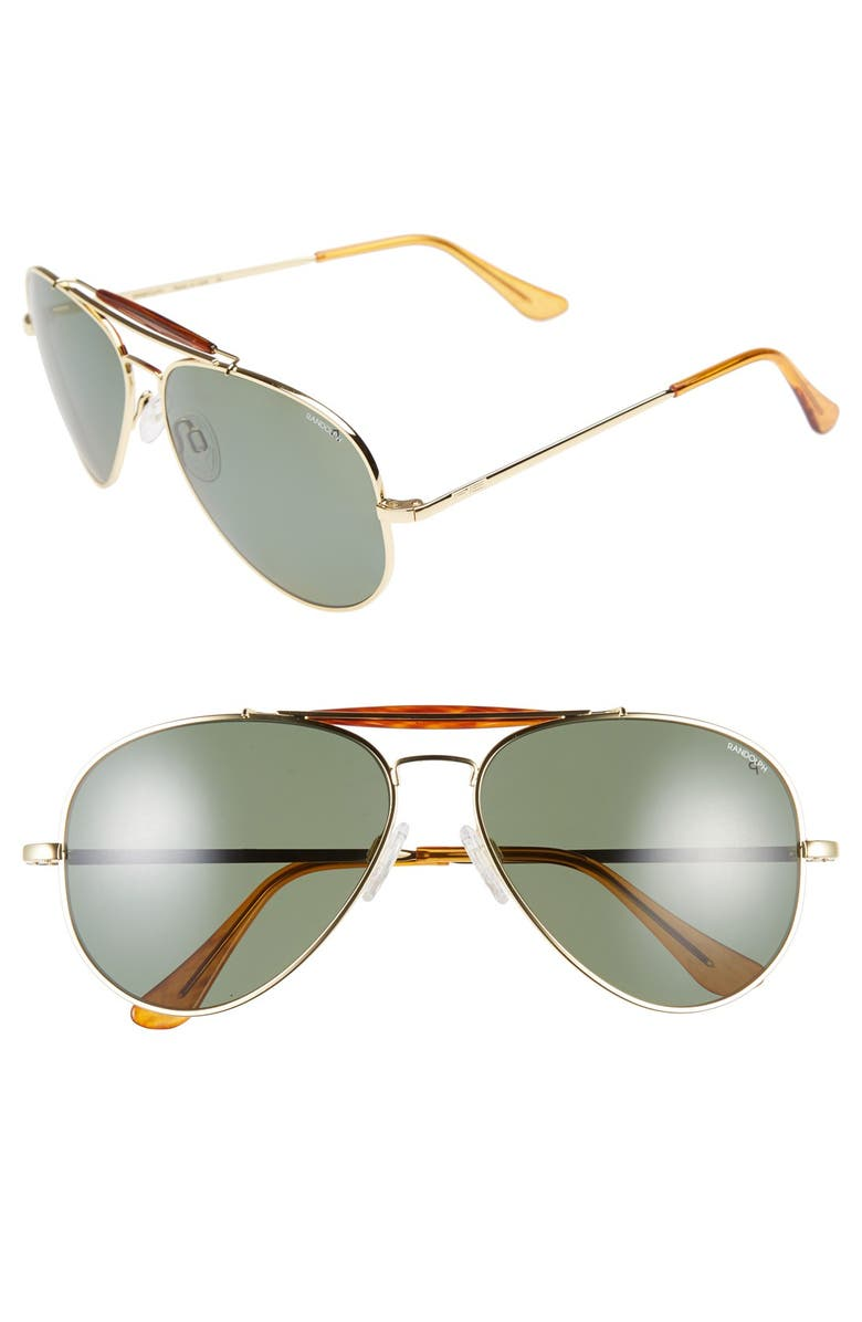 255821eaadc3 Randolph Engineering 'Sportsman' 61mm Polarized Aviator Sunglasses ...