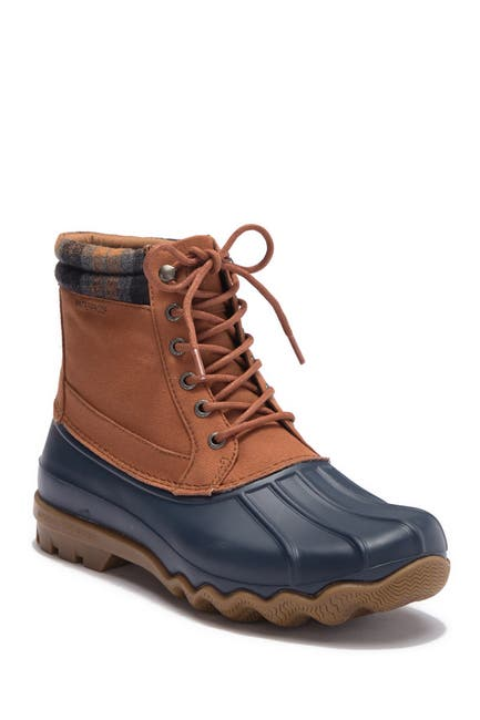 Image of Sperry Brewster Plaid Collar Waterproof Duck Boot