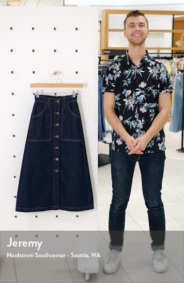 Button-Through Denim Skirt, sales video thumbnail