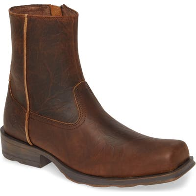 Ariat Western Rambler Zip Boot, Brown