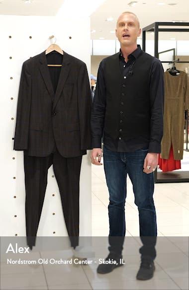 Huge/Genius Trim Fit Windowpane Wool Suit, sales video thumbnail