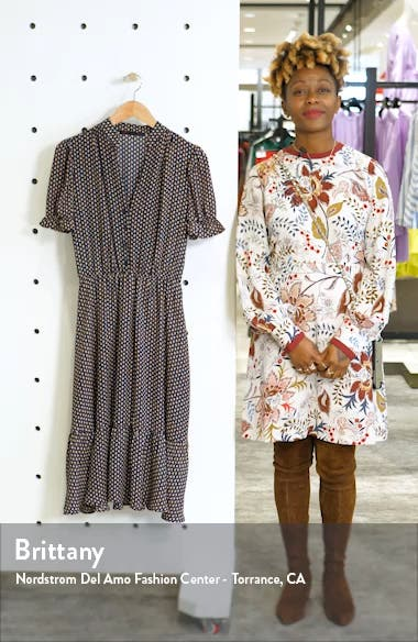 Puff Sleeve Midi Dress, sales video thumbnail
