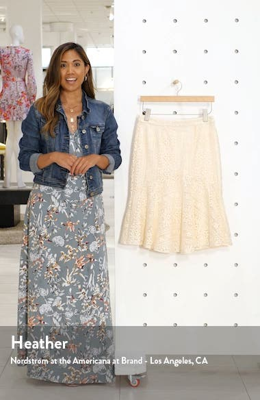 Embroidered Flounce Skirt, sales video thumbnail