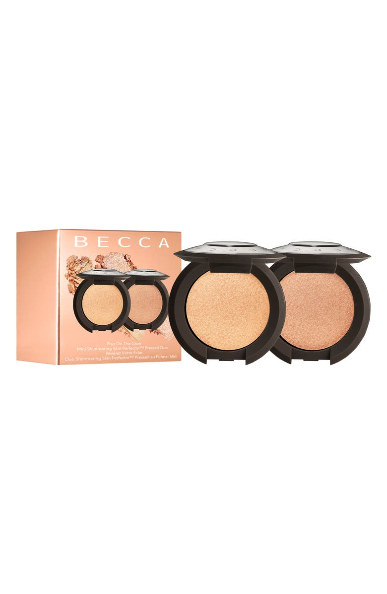BECCA COSMETICS BECCA Pop On The Glow Mini Shimmering Skin Perfector Pressed Duo, Main, color, NO COLOR