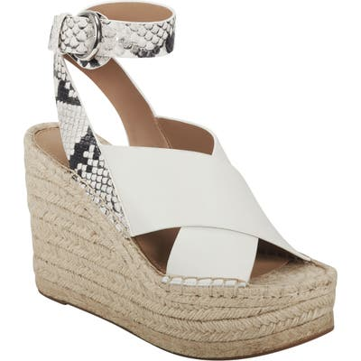 Marc Fisher Ltd Abacia Wedge Sandal, White