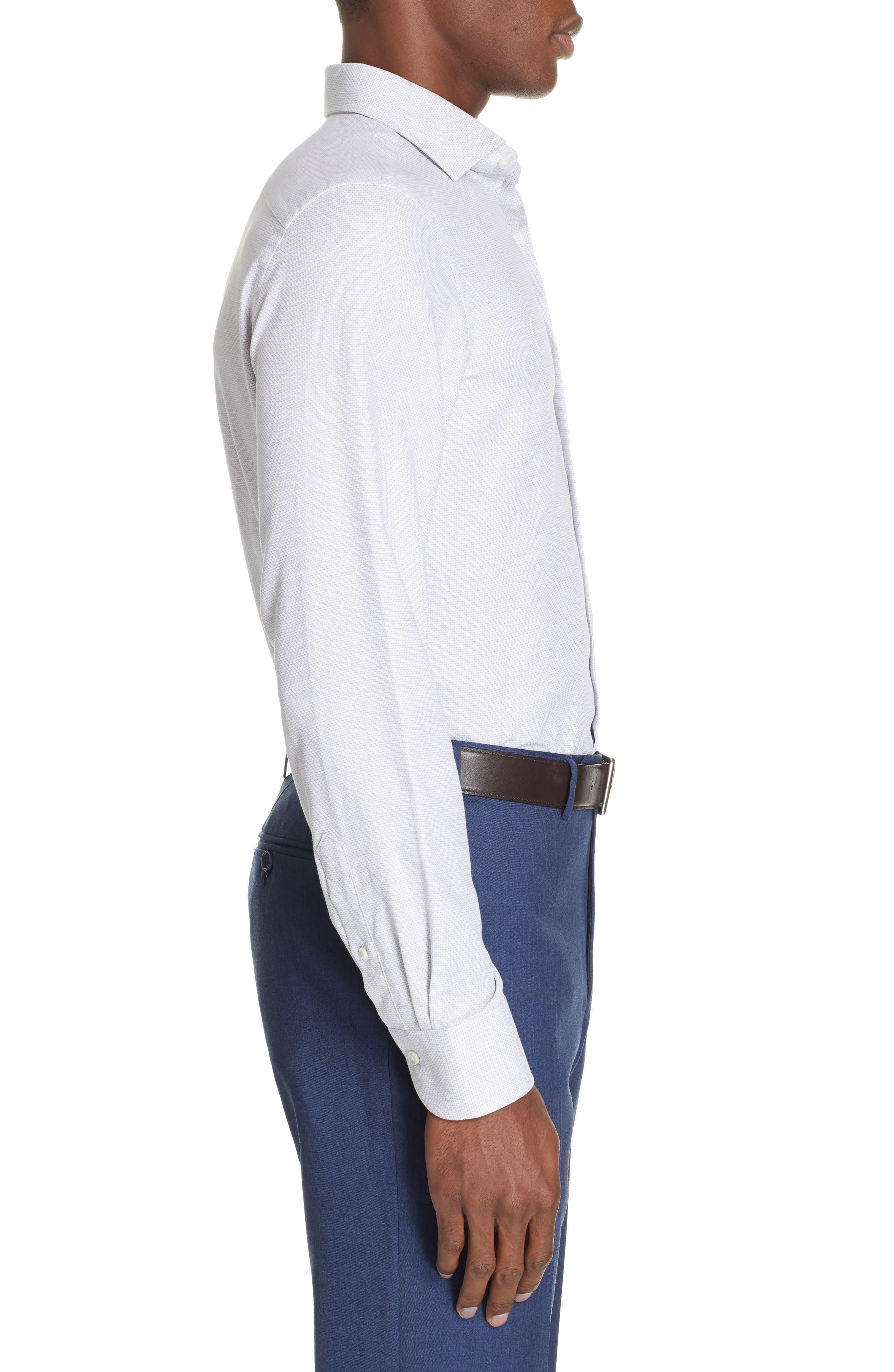 ,                             Regular Fit Solid Dress Shirt,                             Alternate thumbnail 4, color,                             SILVER
