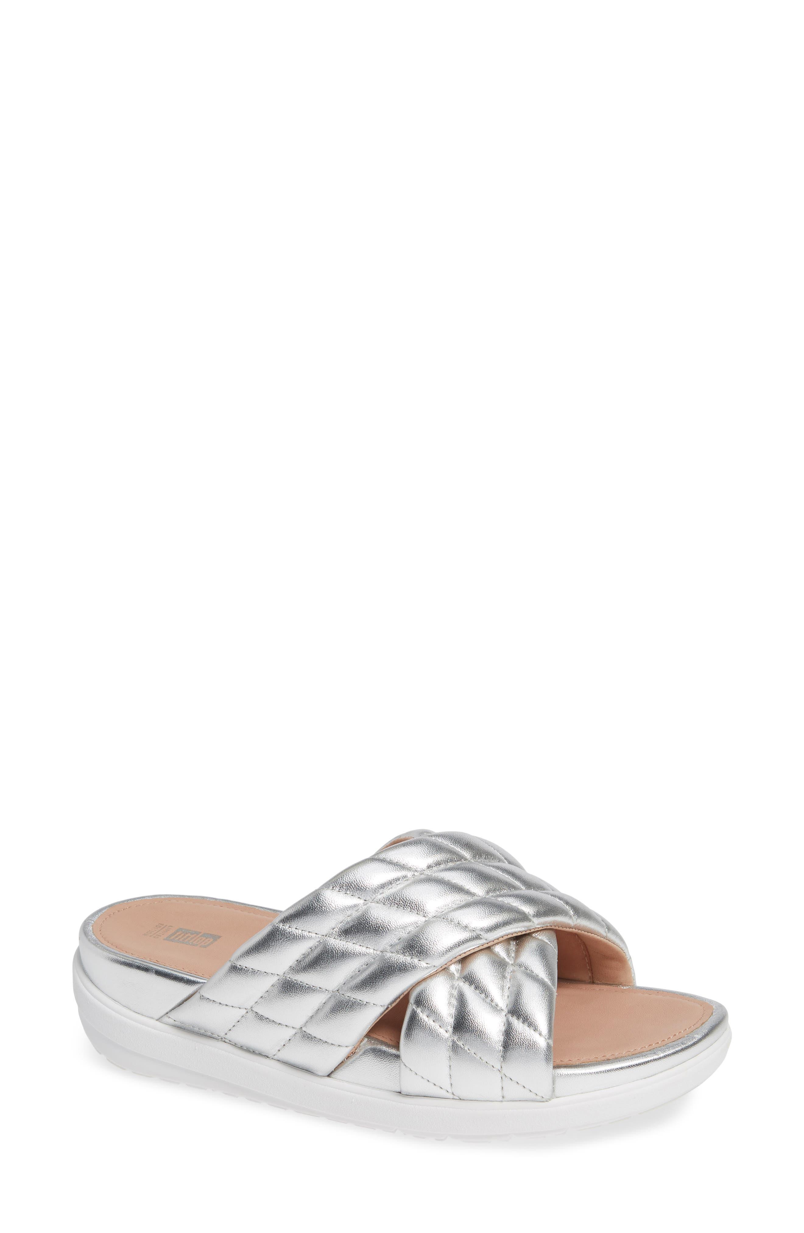 Fitflop Loosh Luxe Slide Sandal, Metallic