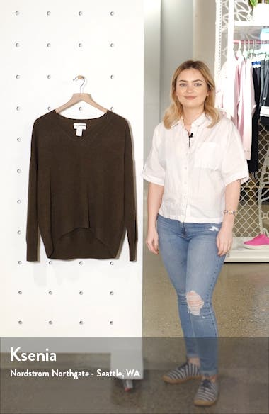 High/Low Cashmere Sweater, sales video thumbnail