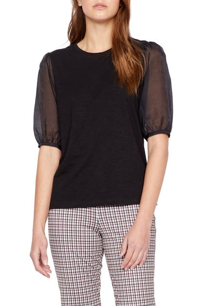 Sanctuary Knits SHEER SLEEVE KNIT TOP