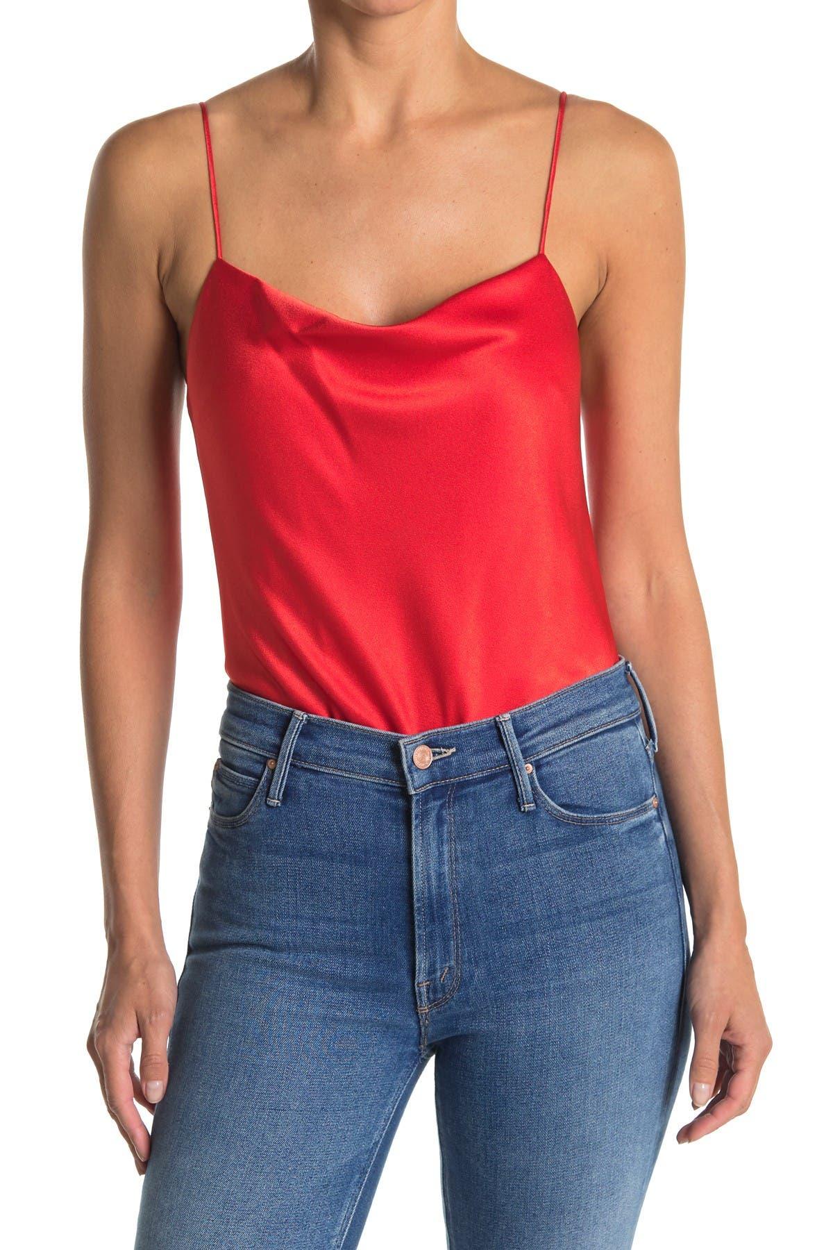 Image of alice + olivia Harmon Satin Bodysuit