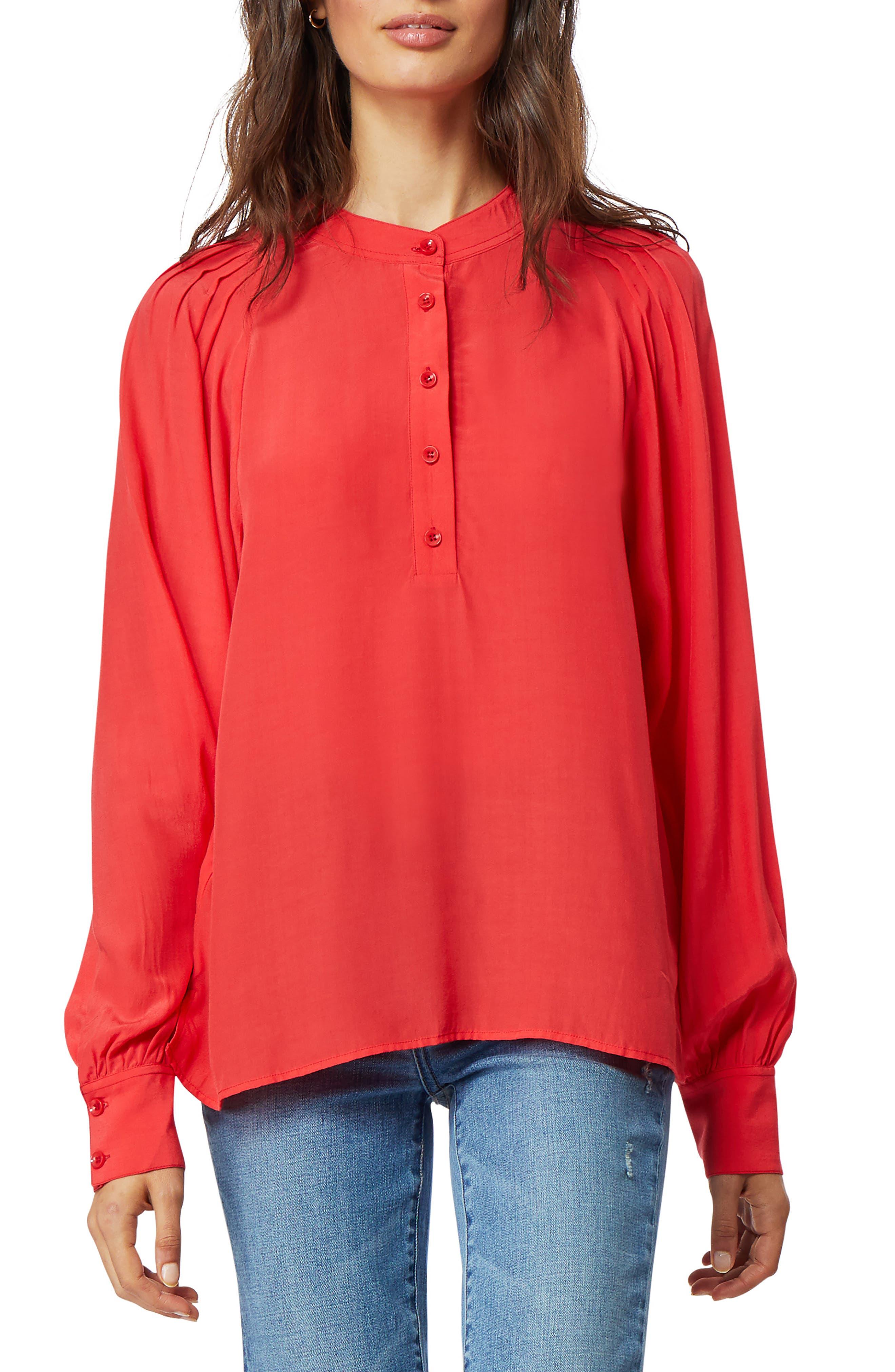 Image of Habitual Amara Pleated Shoulder Top