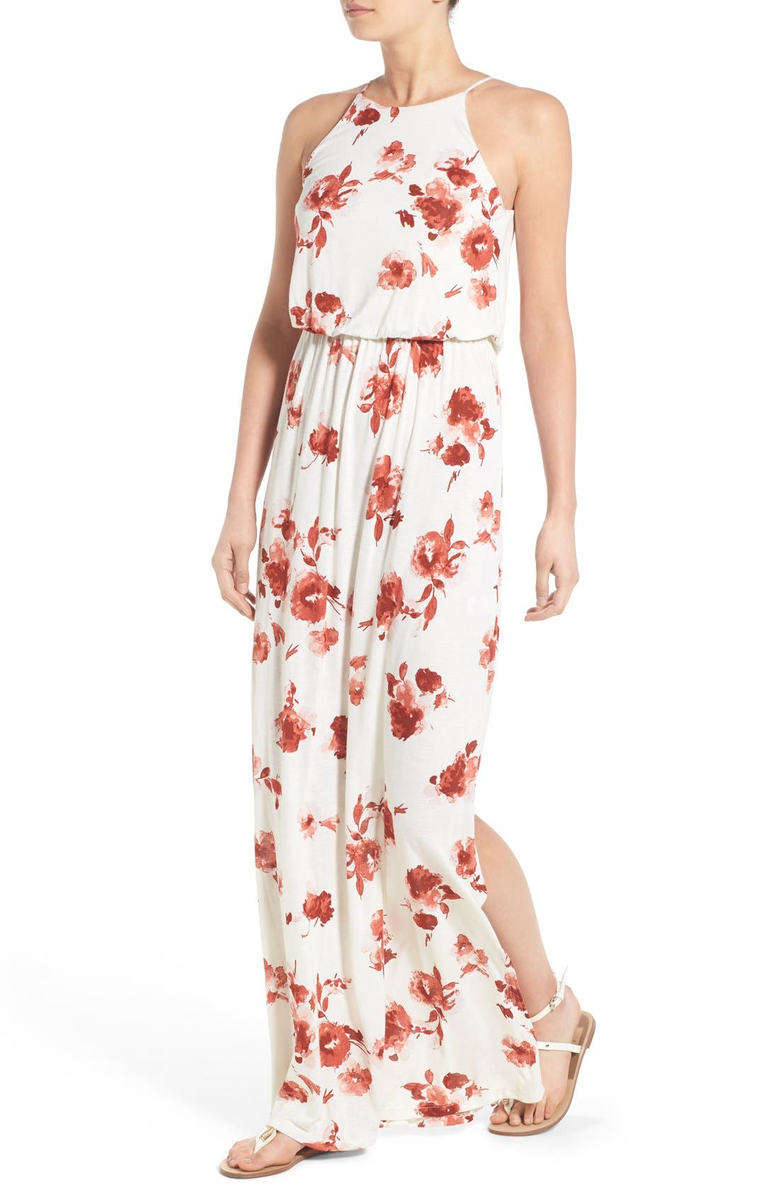 ,                             High Neck Maxi Dress,                             Alternate thumbnail 141, color,                             900