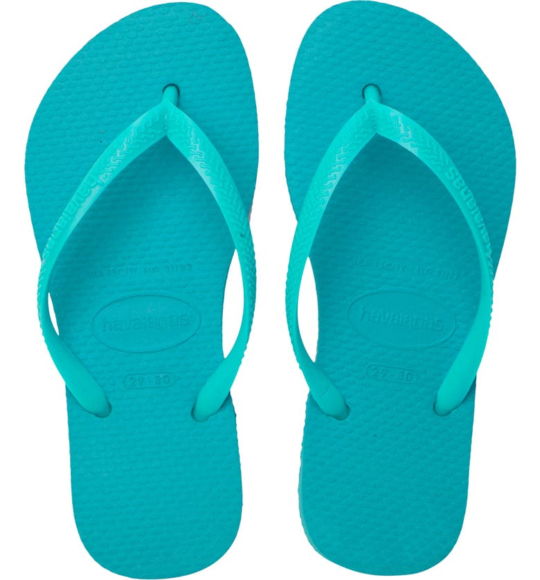 HAVAIANAS 'Slim' Flip Flop, Main, color, LAKE GREEN