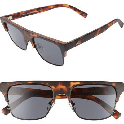 Le Specs Cruel Summer 51Mm Flat Top Sunglasses - Tortoise