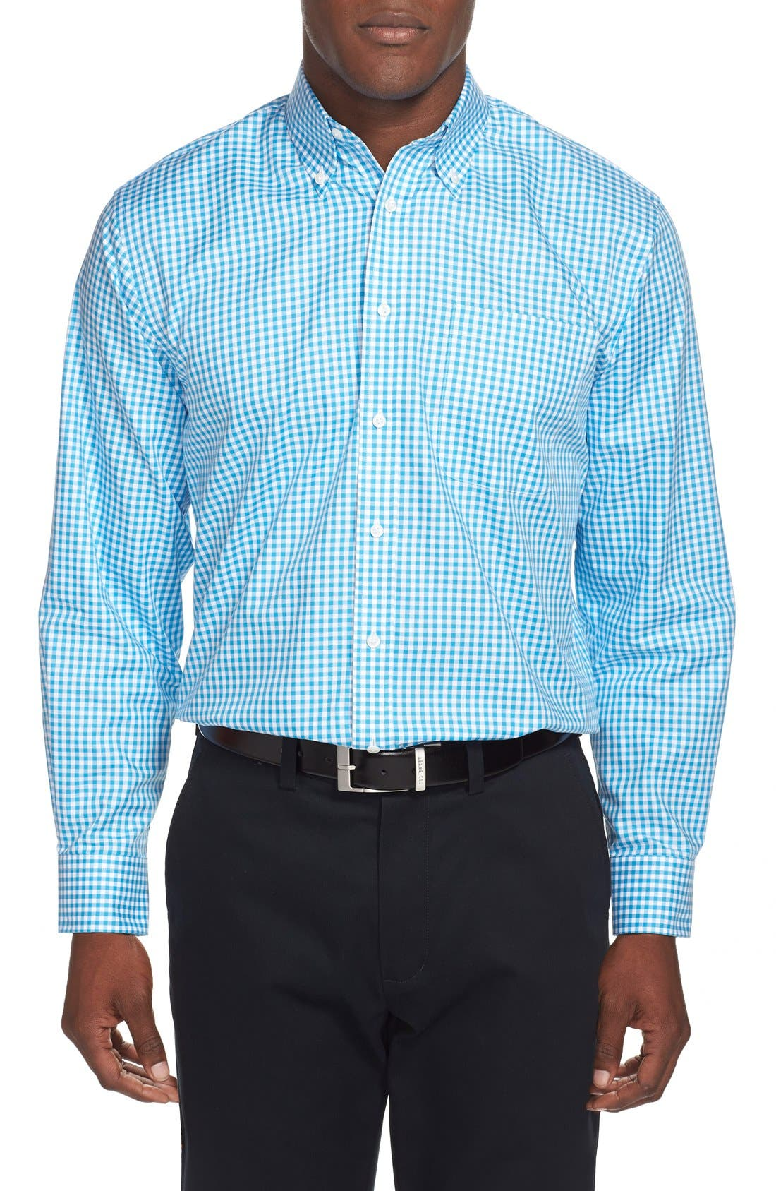 ,                             Traditional Fit Non-Iron Gingham Dress Shirt,                             Alternate thumbnail 52, color,                             420