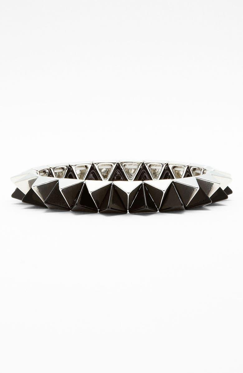 CARA Pyramid Stretch Bracelet, Main, color, 001