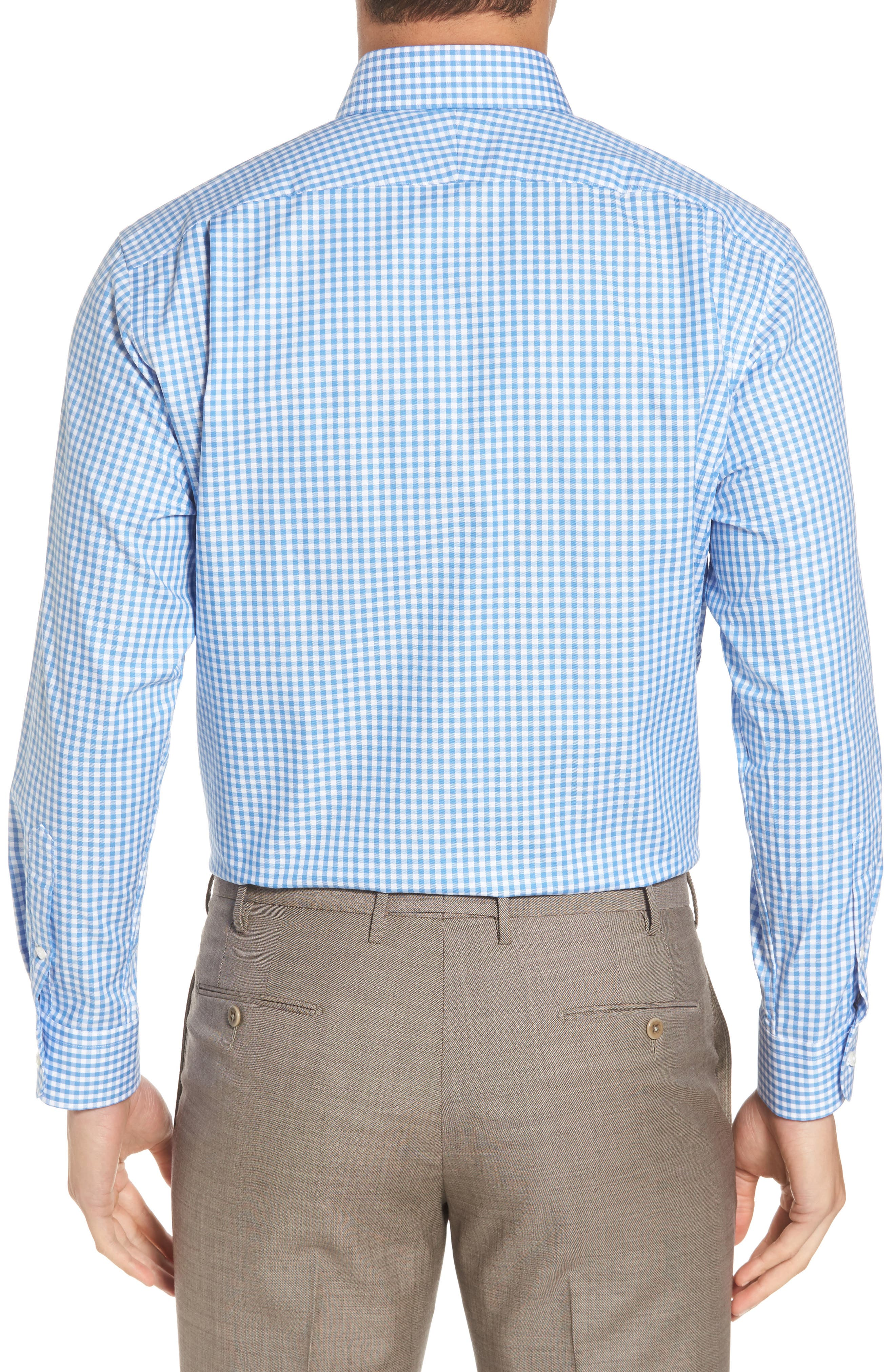 ,                             Traditional Fit Non-Iron Gingham Dress Shirt,                             Alternate thumbnail 14, color,                             450