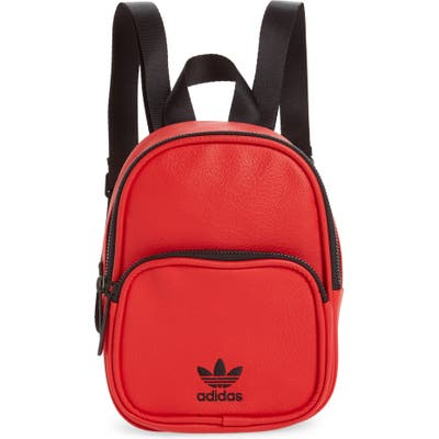 Adidas Originals Mini Faux Leather Backpack - Red