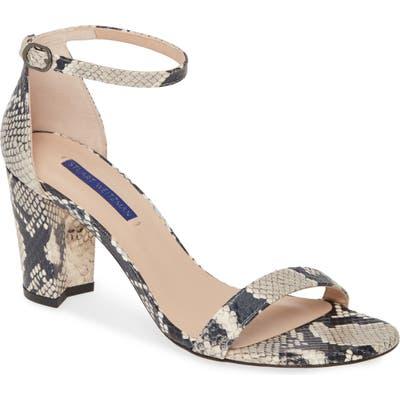 Stuart Weitzman Nearlynude Ankle Strap Sandal, Brown