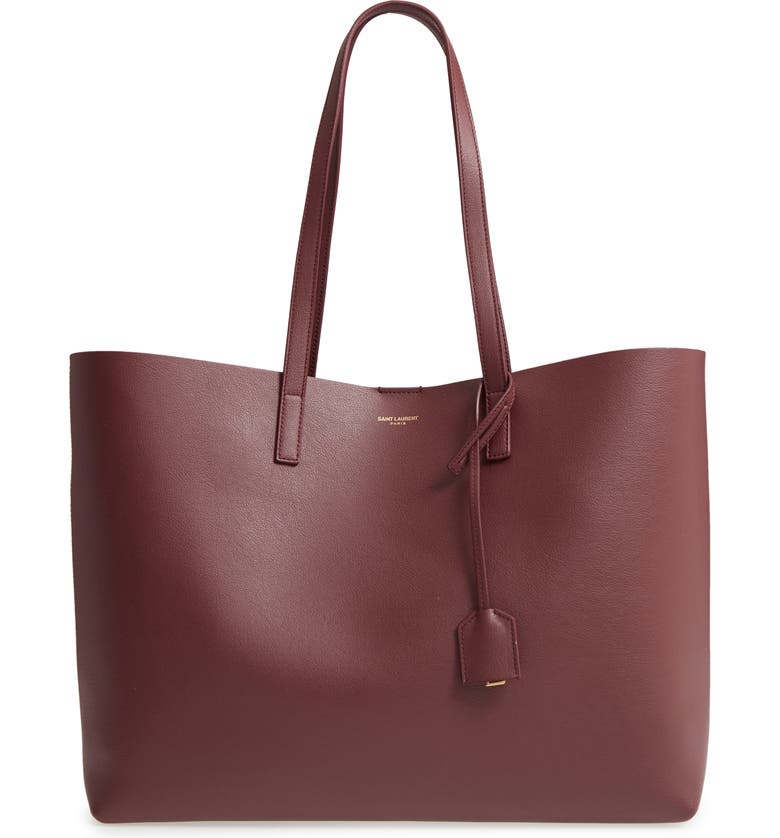 SAINT LAURENT 'Shopping' Leather Tote, Main, color, ROUGE LEGION