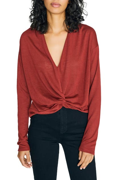 Sanctuary Tops KNOT INTERESTED PLUNGE NECK TOP