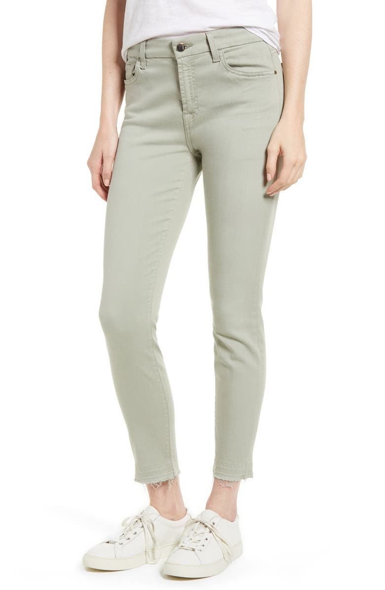 JEN7 BY 7 FOR ALL MANKIND Release Hem Colored Ankle Skinny Jeans, Main, color, 302