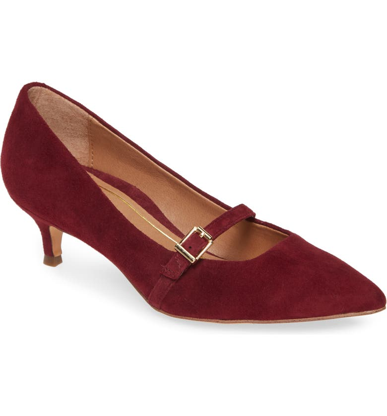 VIONIC Minnie Kitten Heel Pump, Main, color, WINE SUEDE