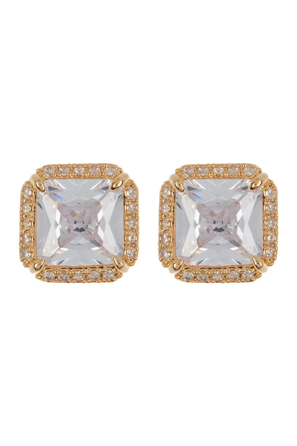 Image of kate spade new york that sparkle pave princess cut cz stud earrings