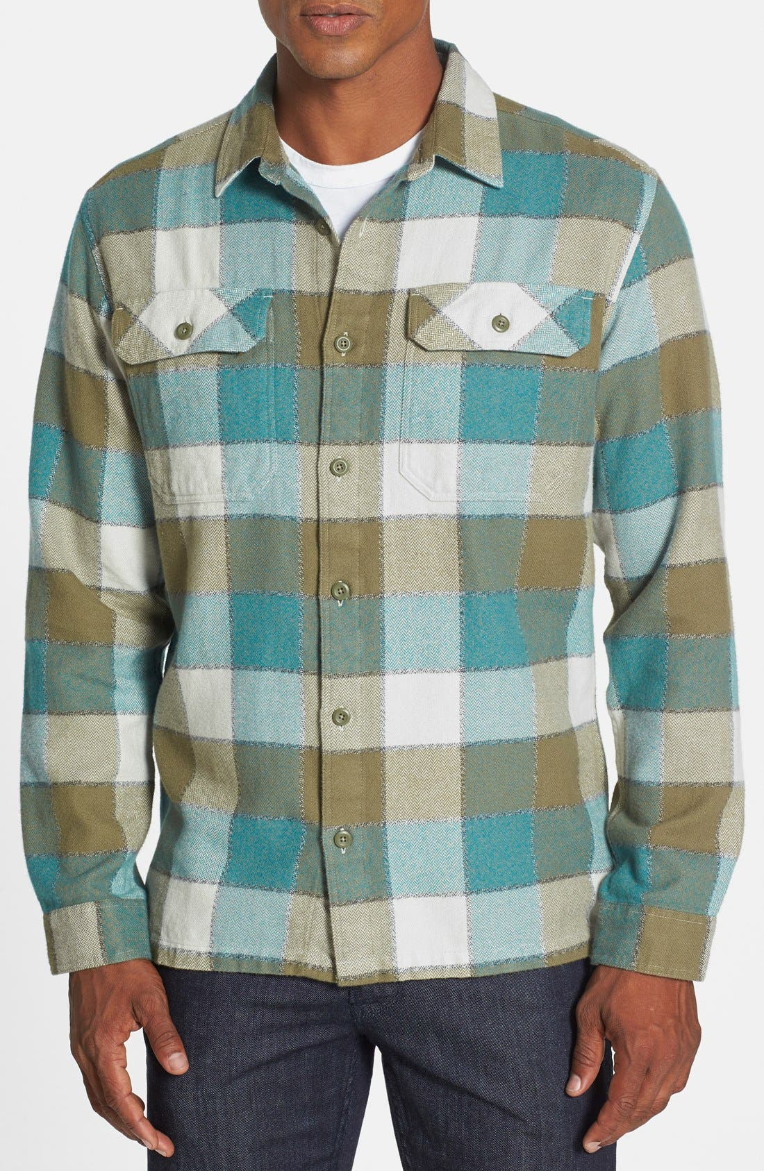 ,                             'Fjord' Regular Fit Organic Cotton Flannel Shirt,                             Main thumbnail 99, color,                             301